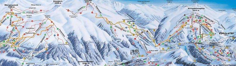Skigebied van Gerlos, Konigsleiten, Zell am Ziller en Wald.