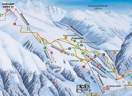 Skigebied van Gerlos